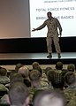 U.S. Marine Corps Sgt. Maj. Bryan Battaglia, the senior enlisted advisor to the chairman of the Joint Chiefs of Staff and the senior Non-commissioned officer in the U.S. Armed Forces, addresses approximately 700 130312-A-JM788-589.jpg