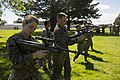 U.S. Marines with the I Marine Expeditionary Force practice handling procedures with New Zealand Steyr rifles during familiarization training in preparation for exercise Southern Katipo 2013 at the Linton 131104-M-QZ858-176.jpg
