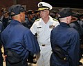 U.S. Navy Rear Adm. Mark L. Tidd, center, chief of Navy chaplains, congratulates recruits following a capping ceremony next to USS Trayer (BST 21), with Recruit Training Command, aboard Naval Station Great 120803-N-IK959-418.jpg