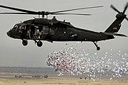 UH-60 PSYOP Leaflet Drop, near Hawijah, Iraq 06 March 2008