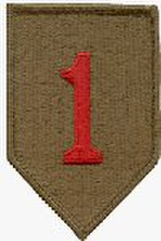 The Big Red One - Patch of the United States Army's 1st Infantry Division.