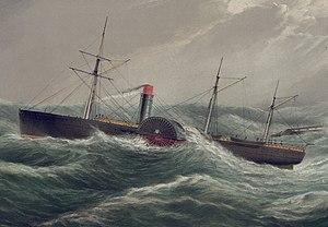Collins Line - Image: USM steamship Pacific (1849)