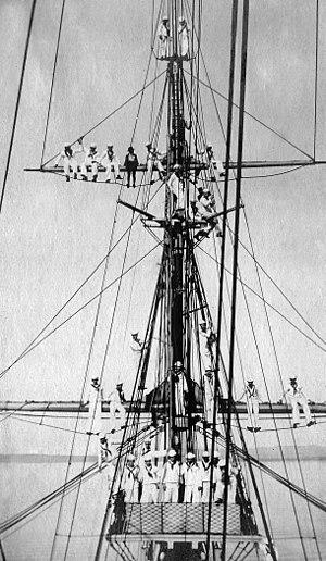 USS Adams (1874) -  USS Adams crew, c. 1906
