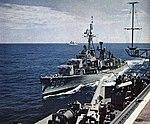 USS Higbee (DDR-806) being refueled in 1960.jpg