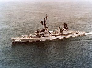 USS John R. Craig (DD-885) underway in the Pacific Ocean on 30 March 1978 (K-120343).jpg