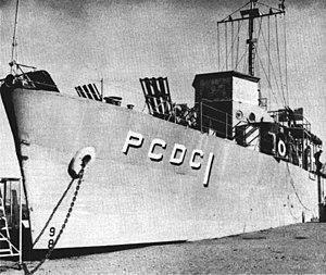 Naval Station Treasure Island - USS Pandemonium (PCDC-1) in 1957.