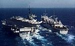 USS Seattle (AOE-3) alongside USS Saratoga (CV-60) following an underway replenishment, in 1991.jpg
