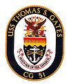 USS Thomas S. Gates (CG-51) coat of arms