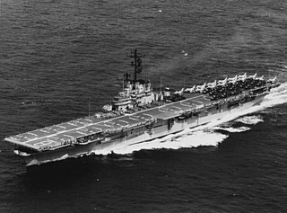USS <i>Valley Forge</i> (CV-45) Essex-class aircraft carrier of the US Navy