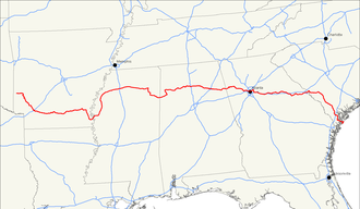 U.S. Route 278 - Image: US 278 map