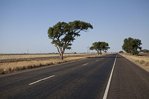 U.S. Route 82 - US Highway 82 crossing the high plains of the Llano Estacado of West Texas