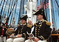 US Navy 050730-N-0335C-002 U.S. Navy Cmdr. Thomas C. Graves and Executive Officer Lt. Brad Coletti look on during USS Constitution change of command ceremony.jpg
