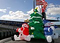 US Navy 051213-N-0879R-004 Christmas decorations adorn the deck of the Los Angeles-class fast attack submarine USS Key West (SSN 722).jpg