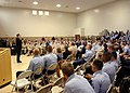 US Navy 061214-N-9274T-002 Chief of Naval Operations (CNO) Adm. Mike Mullen speaks to an audience of Sailors and Marines at Naval Air Station Joint Reserve Base New Orleans.jpg