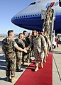 US Navy 081007-N-9584N-004 After a 12 hour flight, Seabees from Naval Mobile Construction Battalion Three (NMCB 3) walk across the red carpet during their homecoming on Naval Air Station Point Mugu.jpg