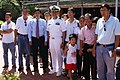 US Navy 091108-N-4335D-001 Cmdr. H.B. Le, commanding officer of the Arleigh Burke-class guided-missile destroyer USS Lassen (DDG 82), visits with extended family members in Hue, Vietnam.jpg