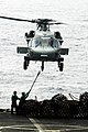 US Navy 100307-N-3038W-333 Crewmembers attach a cargo pendant to an MH-60S Sea Hawk helicopter.jpg