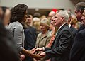 US Navy 120215-N-AC887-033 Secretary of the Navy (SECNAV) the honorable Ray Mabus greets first lady Michelle Obama.jpg