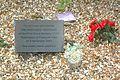 UftonNervet MemorialPlaque PlasticFlowers.JPG