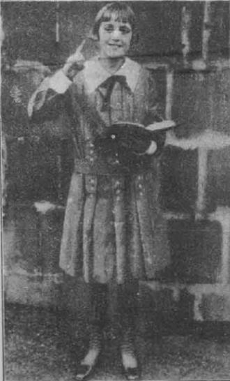 Child preacher - Child preacher Uldine Utley, aged about 12