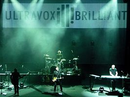 "Ultravox in 2012, playing a date from their ""Brill!ant"" tour at the Hammersmith Apollo in London"