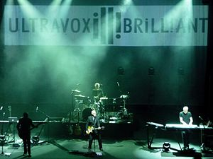 "Ultravox - Ultravox in 2012, playing a date from their ""Brill!ant"" tour at the Hammersmith Apollo in London"