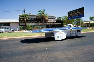 Umicore - The Umicore-sponsored Umicar Infinity, participating in the 2007 World Solar Challenge.