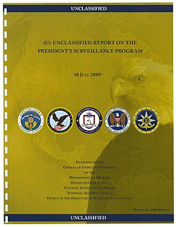 Presidents Surveillance Program collection of secret intelligence activities authorized by George W. Bush
