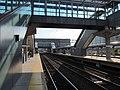Under the footbridge at Stamford station, May 2013.JPG