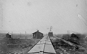 Union Pacific Railroad station in Willow Island, Nebraska (1867).jpg