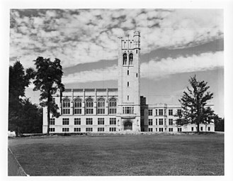 University of Western Ontario - Photo of University College in June 1924. Opened in 1924, the building was one of the first to be completed at Western's present campus.