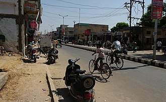 Unjha - Road in Unjha city