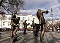 Unusual lifesize group sculpture of street musicians in Praga district in Warsaw (8121492909).jpg