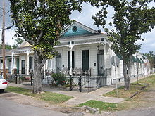 A Double Shotgun Structure In The Uptown Section Of New Orleans. Double Shotgun  Houses Were A Form Of Multiple Family Housing, Where Essentially Two ...