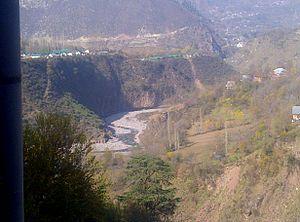 Uri, Jammu and Kashmir - River Jehlum in Uri.