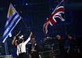 Uruguay and British Flags - Paul McCartney - ON THE RUN - Uruguay, 2012-04-16.jpg