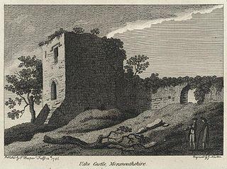 Uske Castle, Monmouthshire