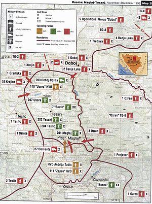 Battle of Žepče - Map