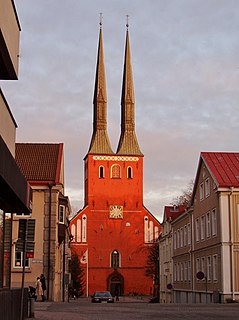 Växjö Cathedral Church in Växjö, Sweden