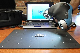 3D scanner - Three-dimensional scanner used to create 3D animation and special effects.