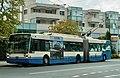 VMCV 1995-built Van Hool AG300T trolleybus 7 in Villeneuve in 2018.jpg