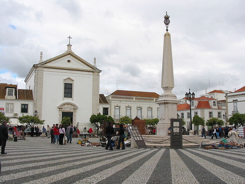 Center of Vila Real de Santo Antonio.  From An Architectural Tour of Portugal