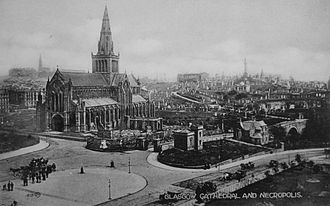 Glasgow Cathedral - An old postcard view of the Cathedral (1893)