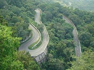 The ghat roads of Valparai Hill Station, Tamil Nadu.