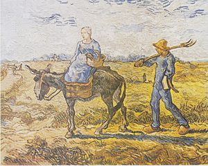Morning. Going to Work (after Millet )