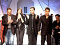 Varun Bahl, Katrina Kaif, Imran Khan, Karan Johar at Van Heusen Men's Fashion Week model auditions 01.jpg