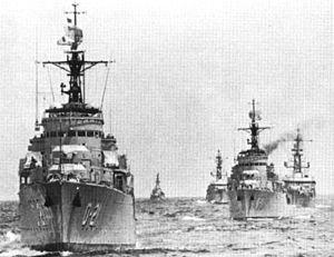 Nueva Esparta-class destroyer - Two Nueva Esparta-class destroyers during the UNITAS X exercise in 1969.