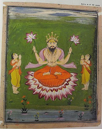 Gautama Buddha in Hinduism - Gautama Buddha as an avatar of Vishnu in a Persian-style painting
