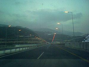 Motorway A2 (Egnatia Odos) in Greece. Français...