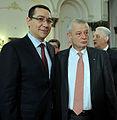Victor Ponta si Sorin Oprescu la semnarea protocolului de infiintare a USD - 10.02.2014 (12436653674) (cropped).jpg